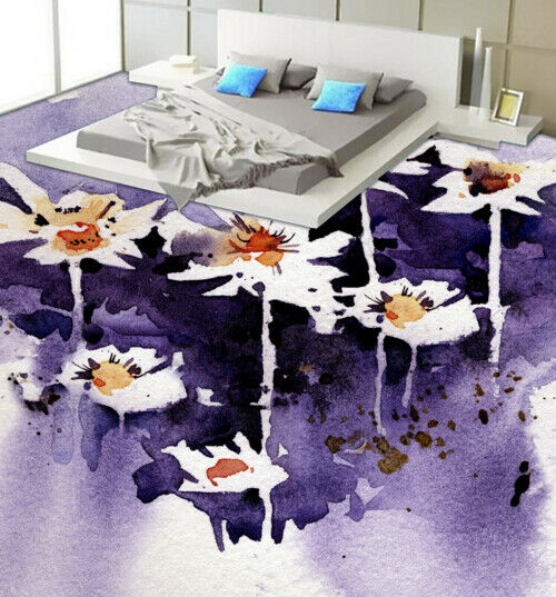 3D Flowers Painting 6 Floor WallPaper Murals Wall Print 5D AJ WALLPAPER UK Lemon