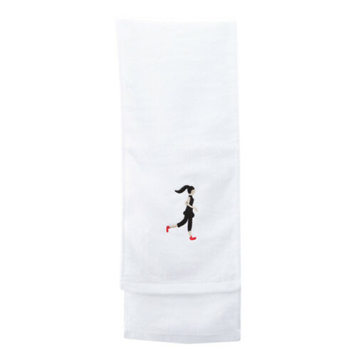 Girl Embroidered Towel Travel Bath Sports Beach Gym Camping Towel 6A