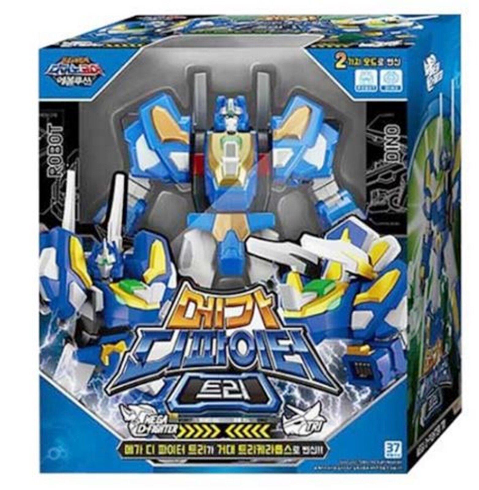 Dino Core 4 EVOLUTION Mega D-combatiente TRI Dinosaur Transformer Robot bambini giocattolo