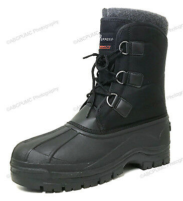 New Men's Winter Snow Boots Waterproof Insulated Thermolit Heavy Duty Warm Shoes