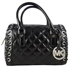 c7a6c79ed075 Michael Kors Hippie Grommet Sophie Black Leather Satchel Bag Small ...