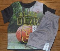 Slam Dunk Basketball Outfit Size 2t Jumping Beans Short Sleeve Top & Mesh Shorts