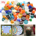 60g 2.1oz Fusing Glass Cut Rod Pieces Mix Color for Microwave Kiln Jewelry DIY