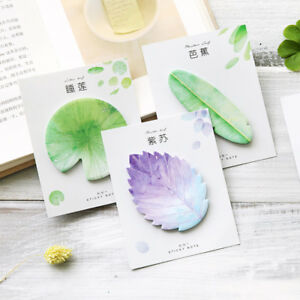 1pcs New Natural Plant Leaf Sticky Note Memo Pad Office Planner Sticker