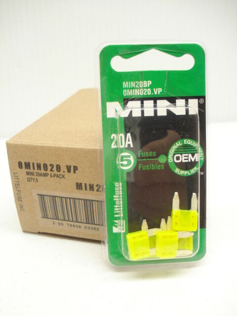 Auto Plug-In Fuses Mini Blade Littelfuse Omino25.Vp Auto Fuse 25-Amp 5-Pk