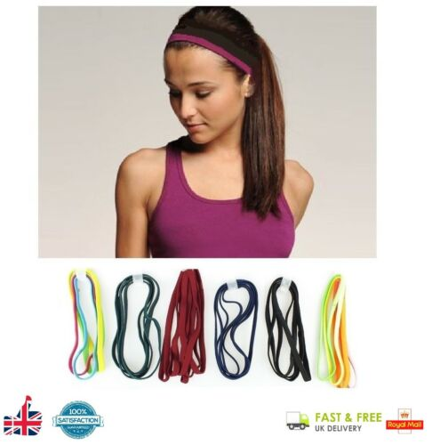 4 x Girls Snag Free Head Bands Hairbands Elastic Headbands Sport Head Band UK