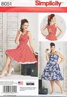 SIMPLICITY SEWING PATTERN 8051 MISSES 10-18 RETRO STYLE 1950s ROCKABILLY DRESS