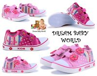 SPRING SUMMER girls canvas shoes trainers size 3 - 7 UK BABY INFANT Toddler