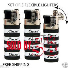 Linse Lighters Flexible Swivel Butane Flame Set of 3 NEW Lighters!