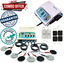 Home Use Combo 4 Channel Electrotherapy Unit Ultrasound Therapy 1mhz Us Machine