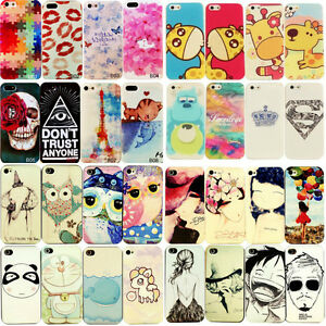 Hot-New-Painted-Various-Pattern-Phone-Hard-Back-Skin-Case-Cover-For-iPhone-4-4S