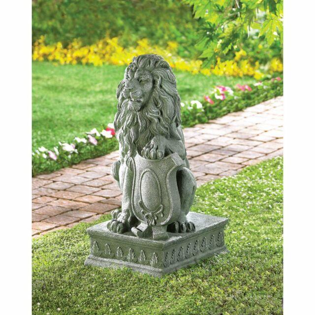 Outdoor Lion Moss Statue Garden Sculpture Driveway Entrance Walkway Decor Stone For Sale Online Ebay