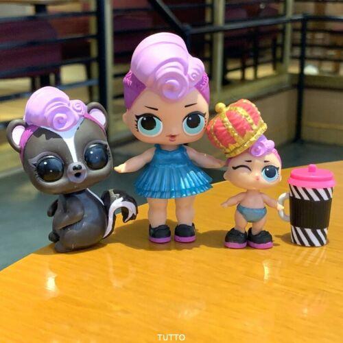 Lot 3 LOL Surprise Doll LiL Sisters Big Sis MISS PUNK Pet GLAM club doll
