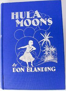 Hula-Moons-Don-Blanding-writer-and-illustrator-Vintage-1944-Hardcover-Tiki