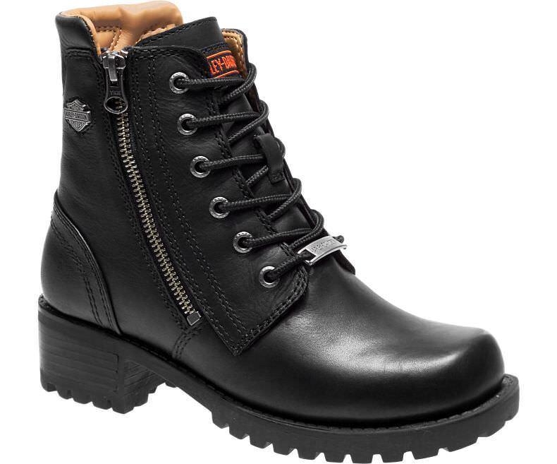 Harley-Davidson Women's ASHER Black Full leather Boots D84250