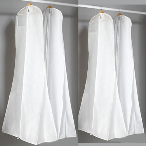 Long Wedding Dress Gown Bag Garment Cover Travel Storage Dust Bags BS