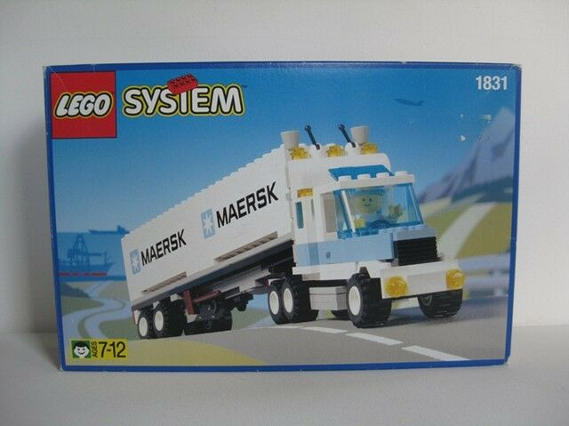 Lego Stadt Klassisch Fracht 1831 -1 Maersk Line Container Lastwagen Neu Ovp