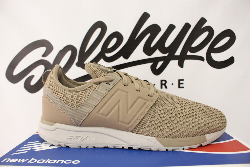NEW BALANCE TAUPE 247 KNIT WINTER KNIT TAUPE BALANCE KHAKI OFF WHITE MRL247KT SZ 9.5 191220