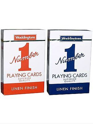 Waddington No 1 Number Playing Cards Classic Red and Blue Cards Decks Choose Fro