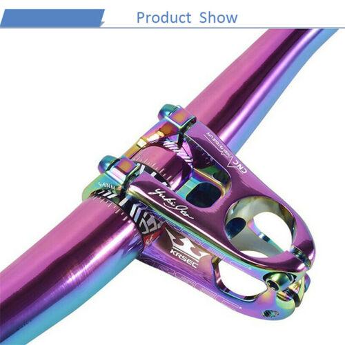 """KRSEC Short Stem 31.8*50mm Titanium-plated Screws 1-1//8/"""" XC//MTB Bike Bar Stem"""