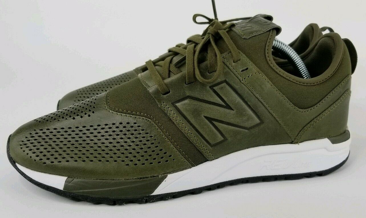 Men's New Balance 247 Leather shoes MRL247NO Green White Size 9