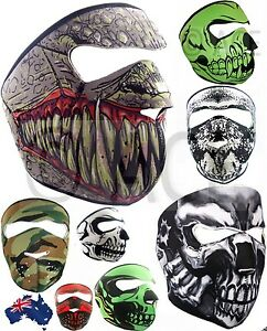 Neoprene Full Reversible Biker Skateboard Motor Bike Scary Sports Face Mask Ebay