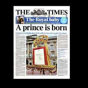 Dollshouse miniature journal the times 23 juillet 2013 royal baby