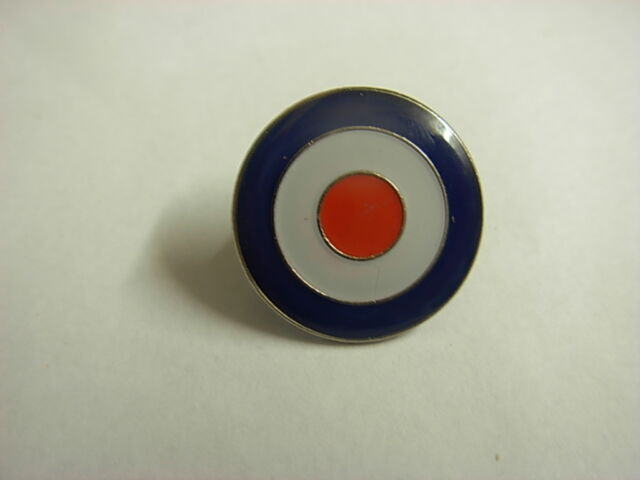 R.A.F. Roundel (version 2). Collectable pin badge. MODs. Airforce