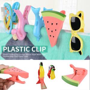 1-2Pac-Plastic-Sun-Lounger-Beach-Towel-Wind-Clip-Sunbed-Pegs-Fun-Pool-Grip-UK