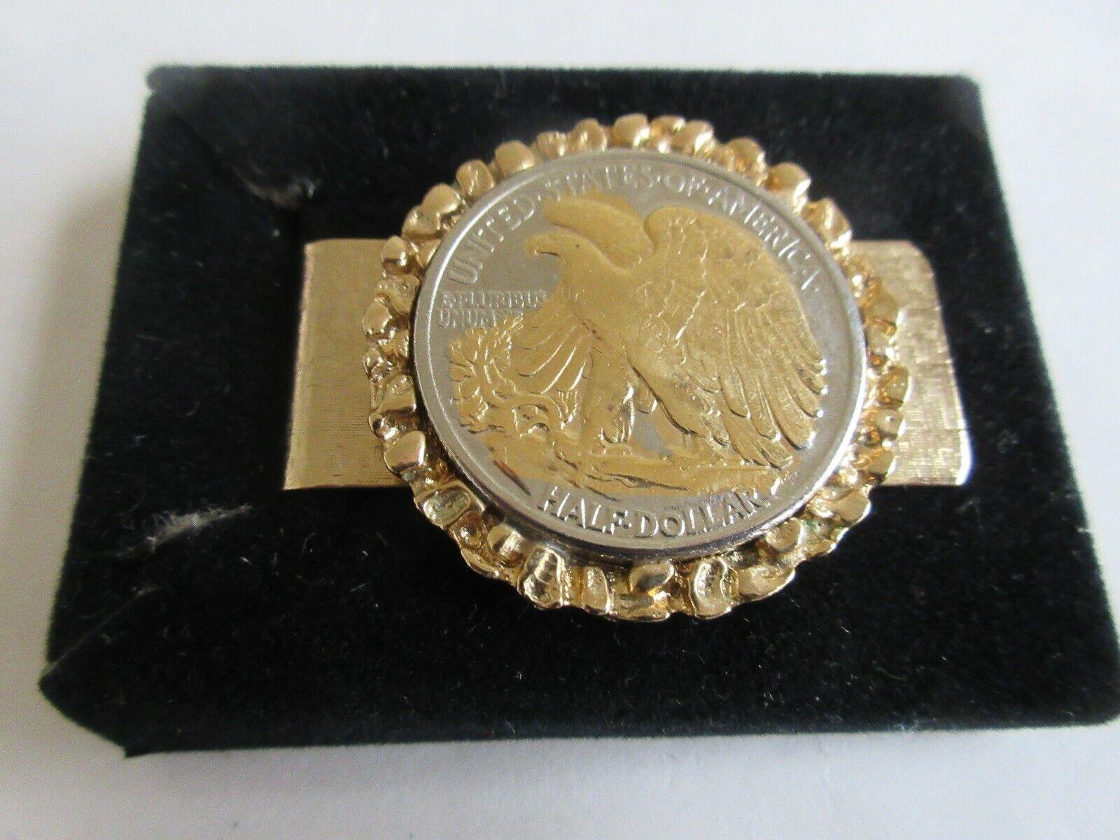 Walking Liberty Half Dollar ,1942 ,Gold Embellished , M