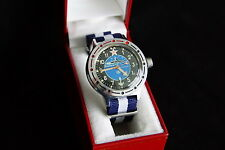 MILITARY ☆KOMANDIRSKIE AMPHIBIAN☆ *SUBMARINE* Men's watch ✔VOSTOK ✔Commander's
