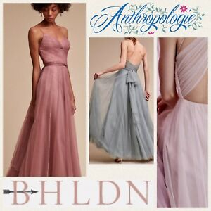 d8aafdf4c8d New BHLDN Watters TINSLEY Pink Rose Blue Bridesmaid Prom Sz 0 2 4 6 ...