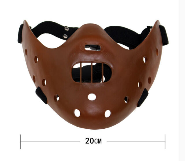 resin Silence of the Lambs Hannibal Lecter Corffee Mask movie halloween costume
