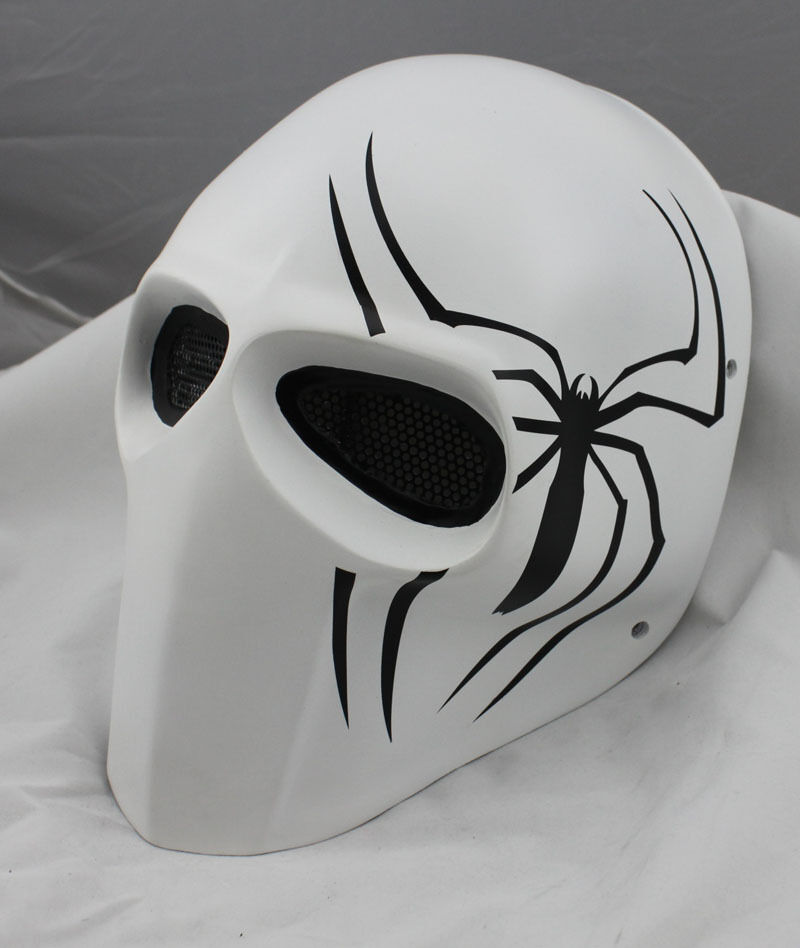 NEW Spider Fiberglass Resin Mesh Eye Airsoft Paintball Full Face Prougeection Mask