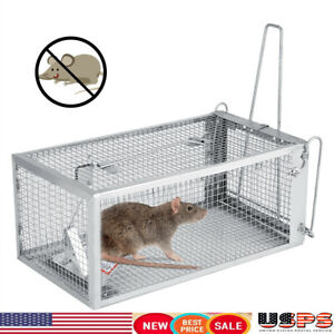 Humane-Rat-Trap-Cage-Live-Animal-Pest-Rodent-Mice-Mouse-Control-Iron-Useful