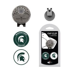 c1b35163639e72 NCAA Michigan State MSU Golf Cap Clip and 2 Ball Markers Enamel Team ...