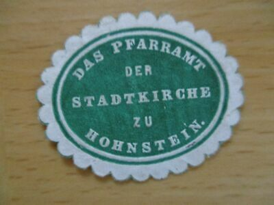 Pfarramt Der Stadtkirche Zu Hohnstein Warm Und Winddicht 17306 Siegelmarke