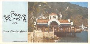 THE-BUSY-BEE-Santa-Catalina-Island-California-1983-Vintage-Large-Postcard