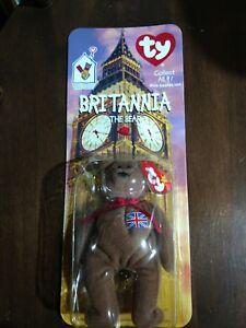 McDonalds Ty Beanie Baby Britannia the Bear selten mit Fehler