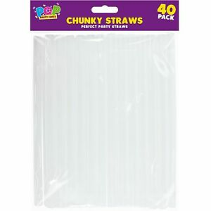 40-x-8-034-Large-Clear-Chunky-Wide-Plastic-Straws-Slush-Milkshake-Smoothie-Party