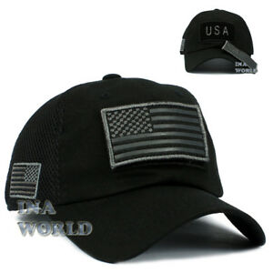 USA American Flag Hat Detachable Patch Micro Mesh Military Tactical ... 539df1b0035