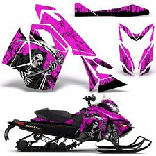 Decal Graphic Wrap Kit Ski Doo Sled Snowmobile REV XS Renegade MXZ 13+ REAP PINK