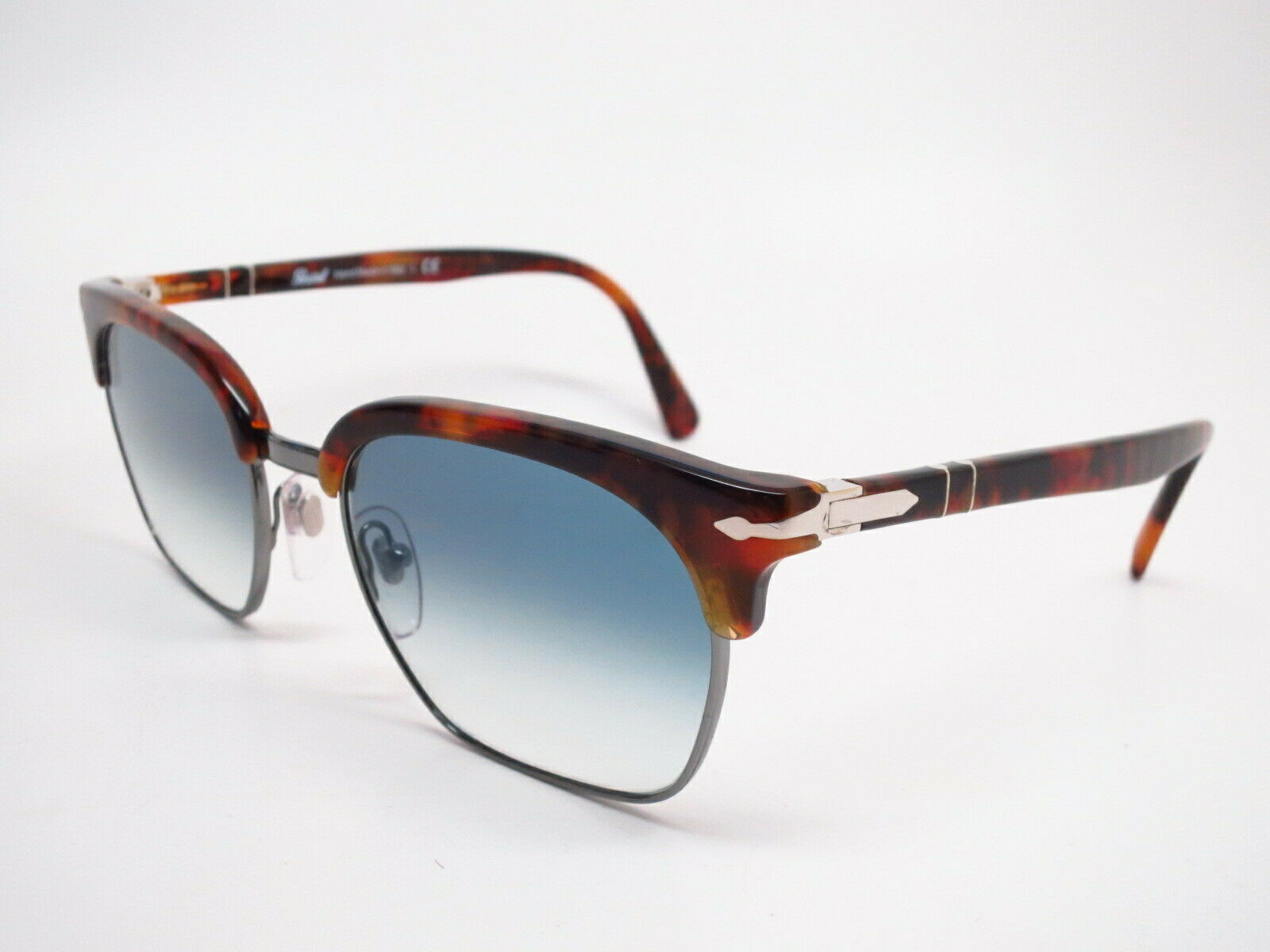 Persol Cellor Evolution Caffe//Gunmetal Brow-Line Sunglasses PO3199S 107171 Italy