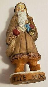 Resin Pelze Noel Santa Christmas Figurine 5 1/2 Inches Tall