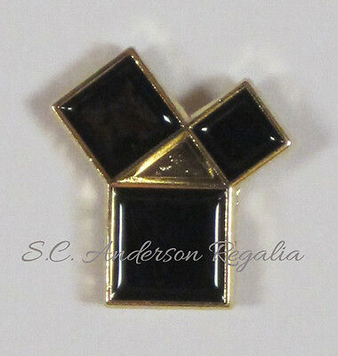 Masonic 47th Problem of Euclid Lapel Pin Mason Freemason