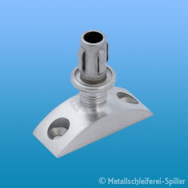 Edelstahl Täger starr für Rundrohr 20mm und Wandstärken 1-2mm Inox