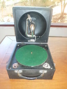 Antique Vintage Decca Portable Phonograph Gramophone Ebay