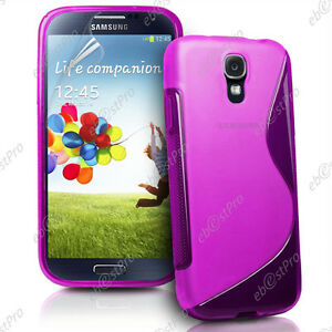 Housse Coque Cover Silicone S Line Violet Galaxy S4 Mini I9190 I9192 I9195 +Film