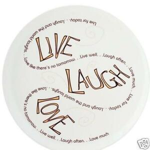 Image Is Loading Plate 034 Live Laugh Love Life Circle