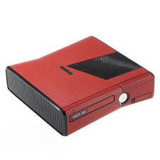 Trama Rosso Fibra Di Carbonio Effetto XBOX 360 SLIM Decalcomania Adesivo SKIN COVER Wrap